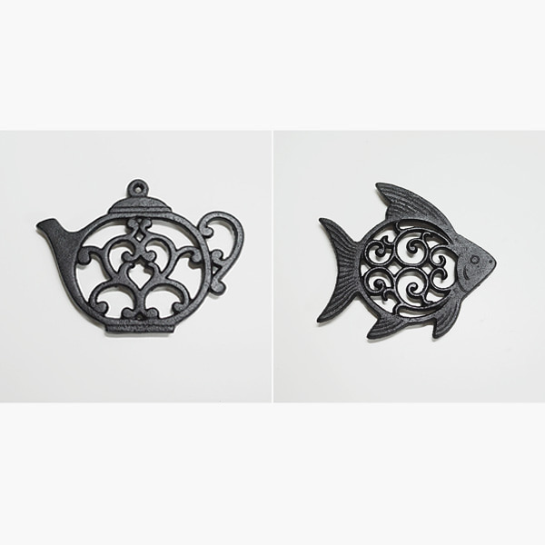Fish & Pot Cast Iron Stand